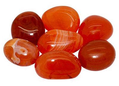 polished carnelian stones