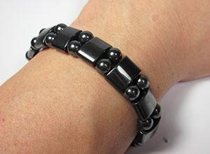 hematite bracelet worn