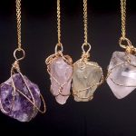 irregular shaped crystal pendants