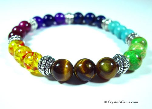 mixed crystals bracelet