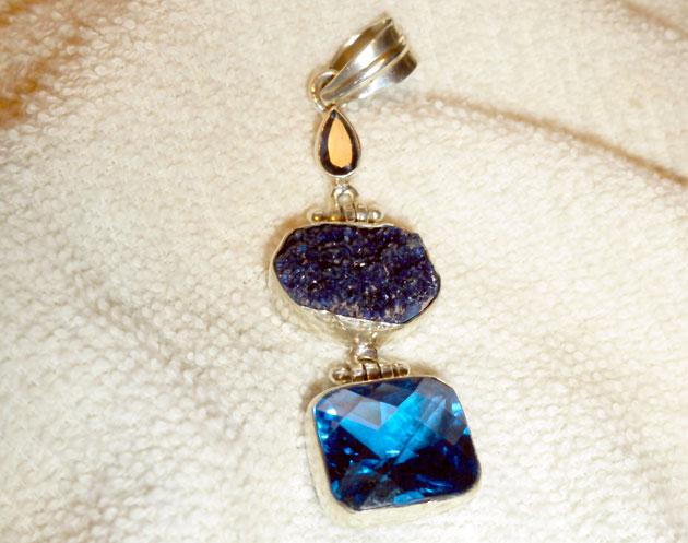 druzy jewelry pendant
