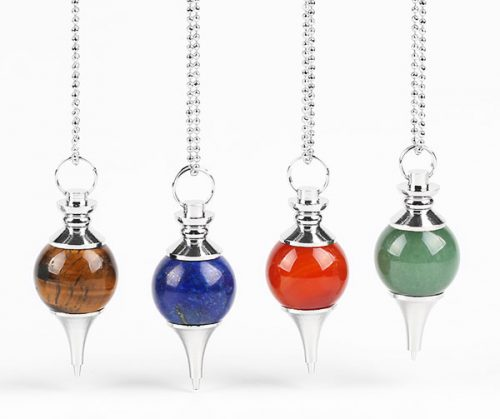 crystal dowsing pendulums with chain