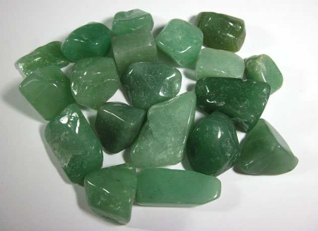tumbled polished green aventurine