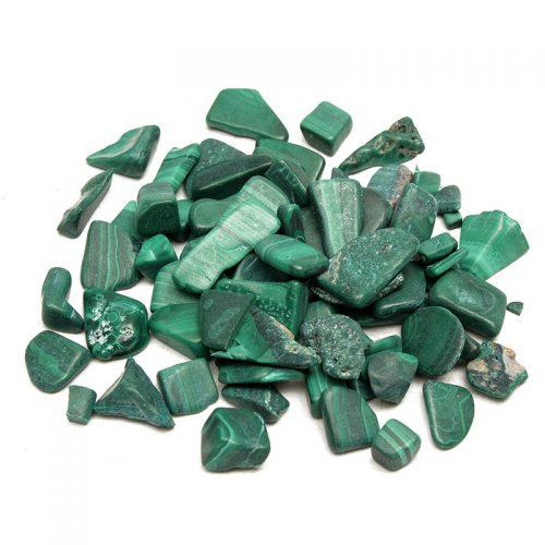 malachite tumbled pieces