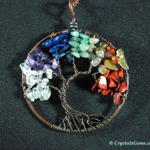 tree of life crystal pendant